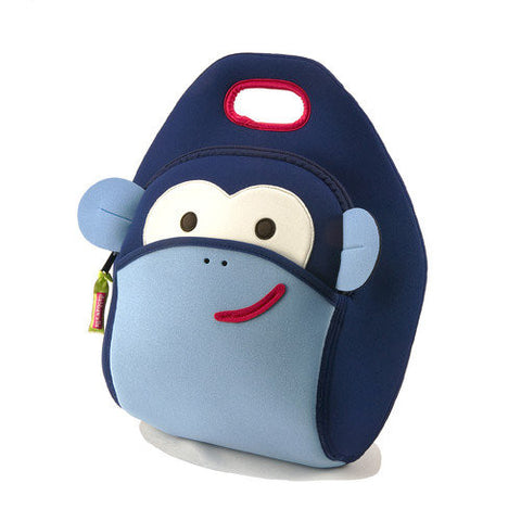 Blue Monkey See, Monkey Do Lunch Bag