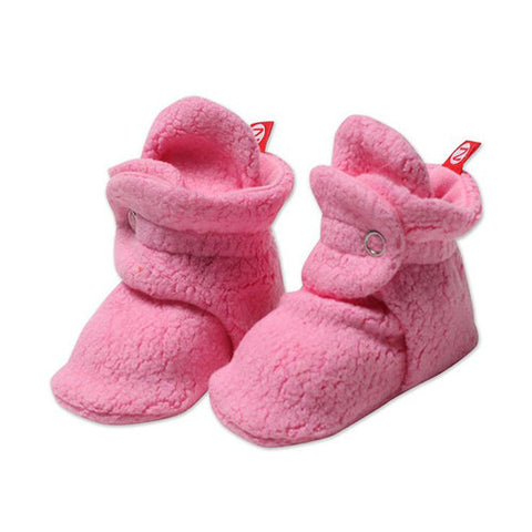 Cozie Fleece Booties - Hot Pink