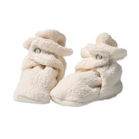 Cozie Fleece Booties - Cream