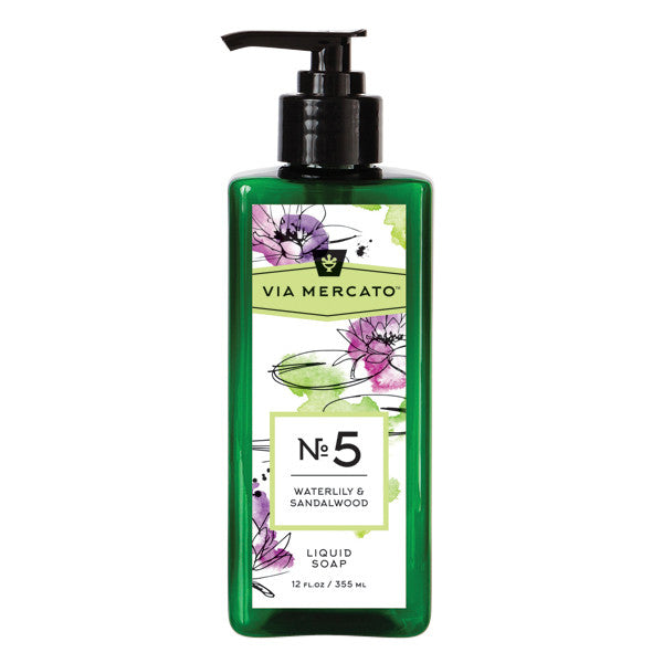Wholesale Liquid Hand Soap - Waterlily & Sandalwood - European Soaps