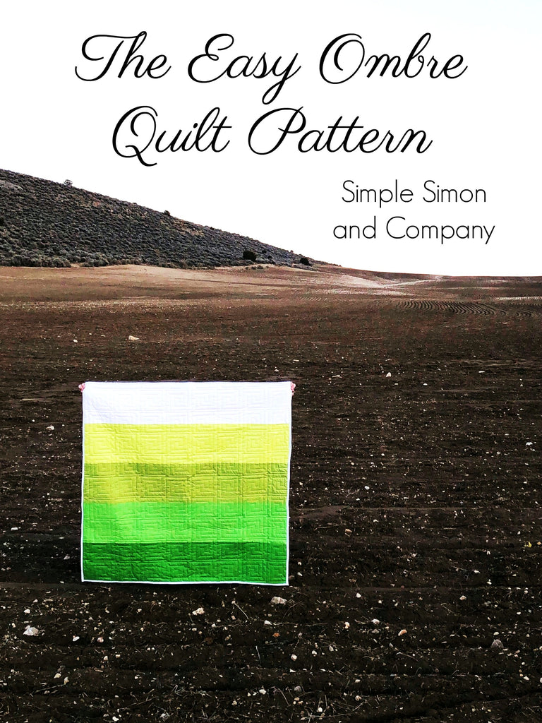 PATTERN (PDF): Easy Ombre Quilt Pattern