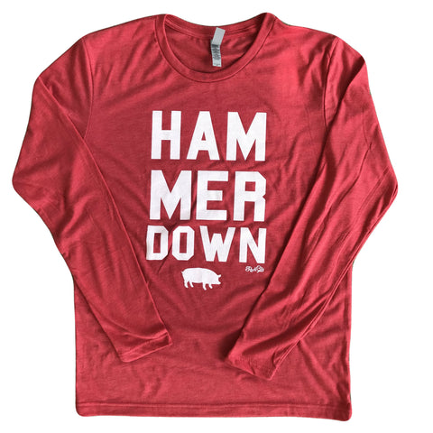 Hammer Down Long Sleeve Red
