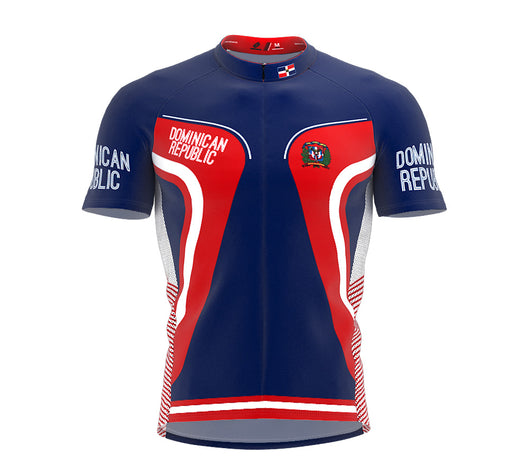 Dominican Republic  Full Zipper Bike Short Sleeve Cycling Jersey