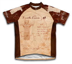 Vitruvian Man Short Sleeve Cycling Jersey for Men and Women