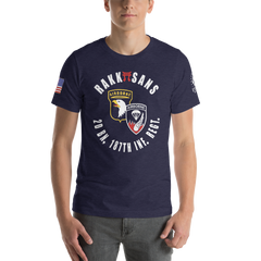 RAKKASANS • 2DBN, 187TH INF. REGT. • UNITDOG 1776 - Short-Sleeve T-Shirt