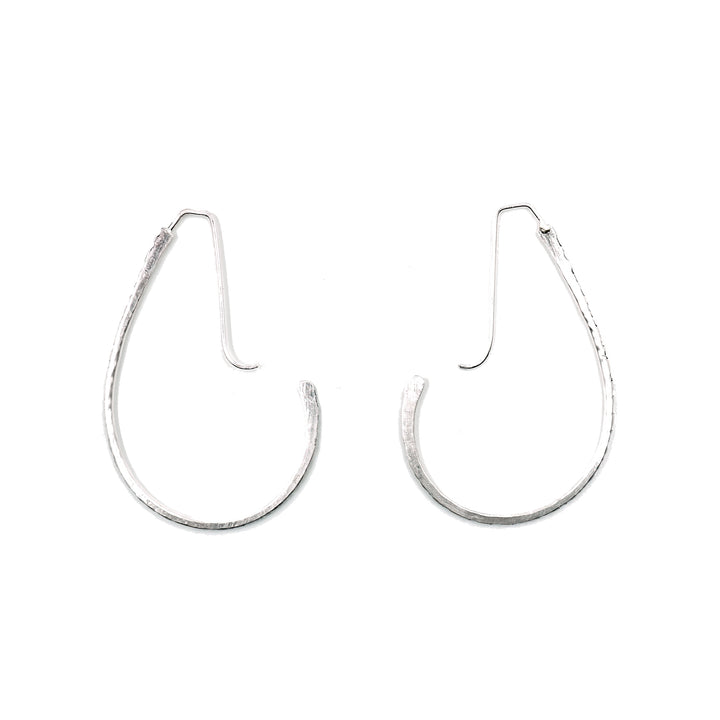 Small Jules Hoops in Silver