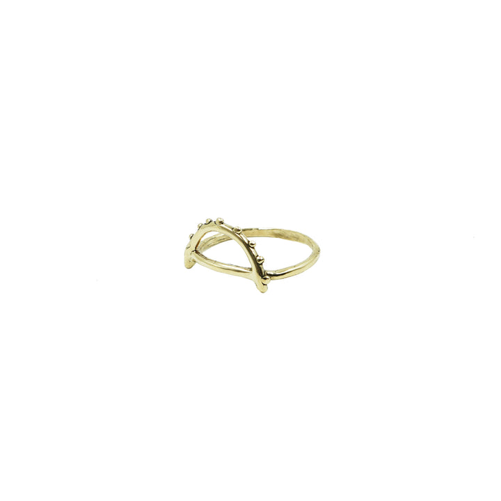 Brass Arc Ring by Tiny Asteroid Jewelry