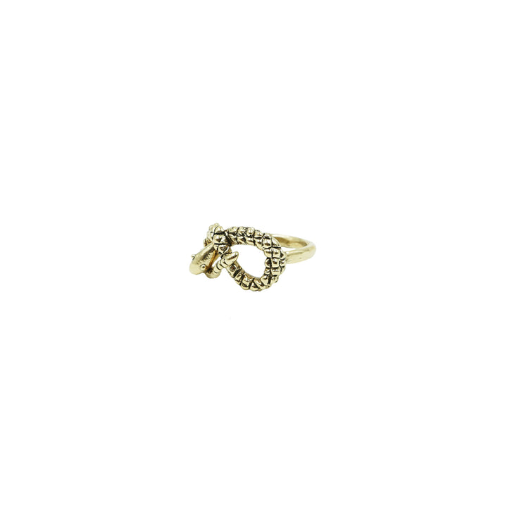 Brass Snake Ring by Tiny Asteroid