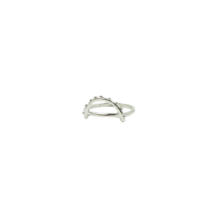 Silver Arc Ring by Tiny Asteroid Jewelry