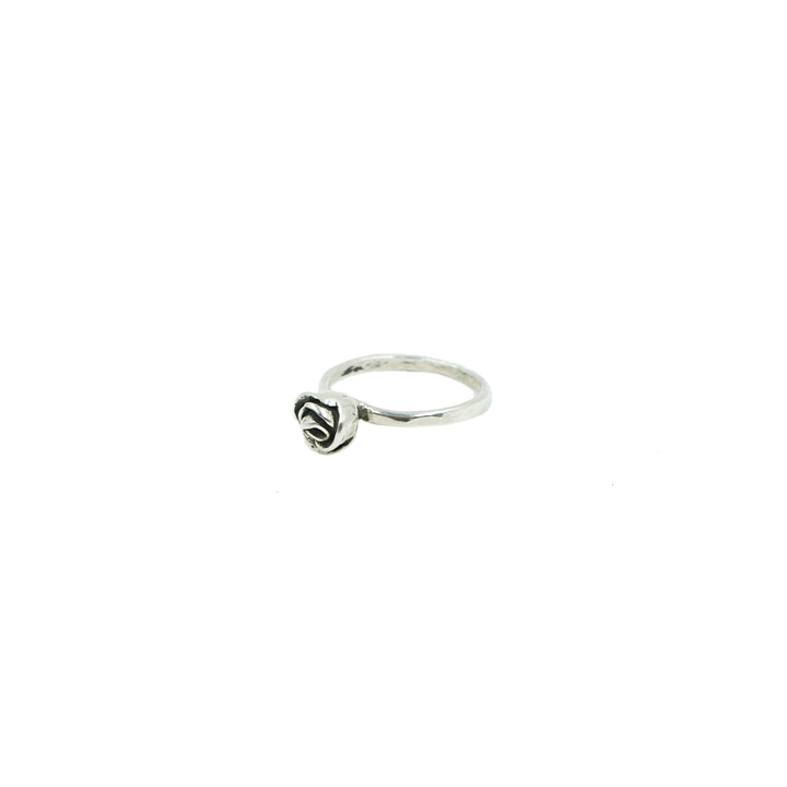 Mini Rose Ring Silver by Tiny Asteroid Jewelry