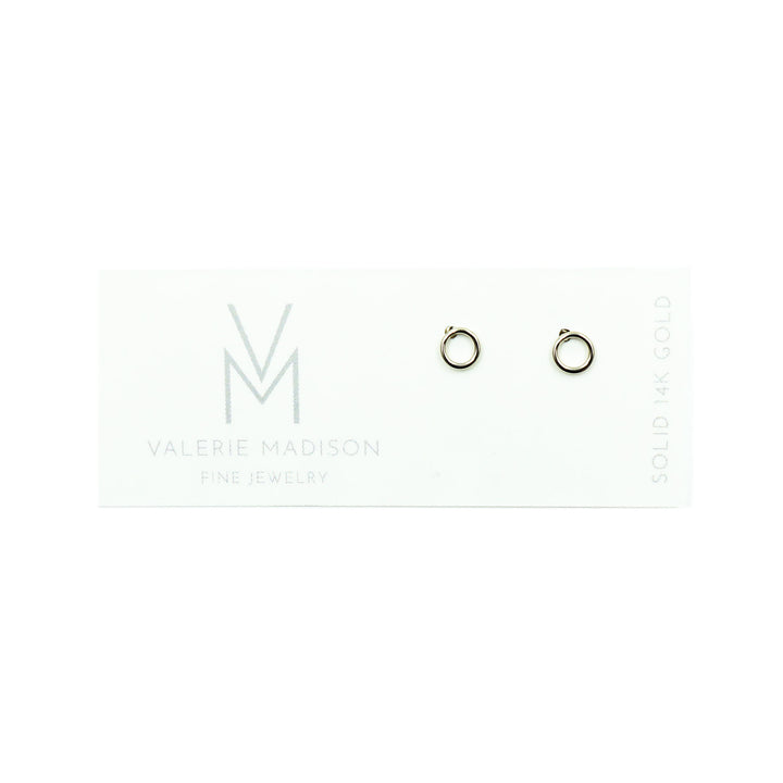Tiny Gold Circle Studs by Valerie Madison