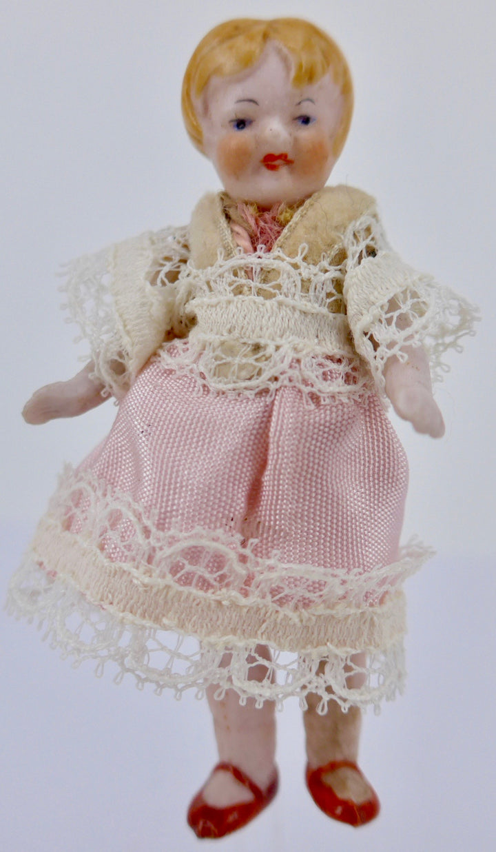 Hertwig bisque dollhouse girl doll
