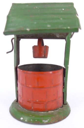 tin well with bucket