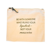 Canvas Makeup Bag  - Be With Someone - AILLEA