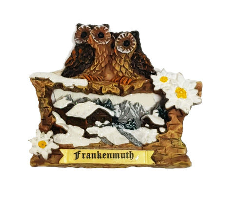 Magnet w/Owl & Frankenmuth Personalization
