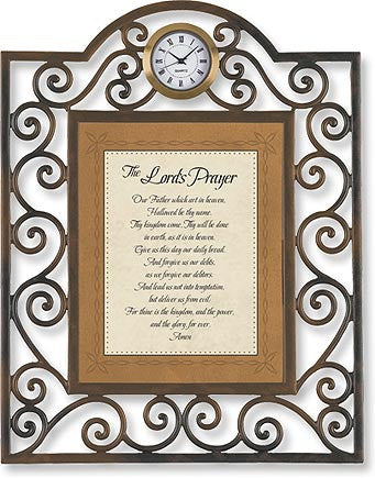 Saying Card Table Clock-Lord's Prayer