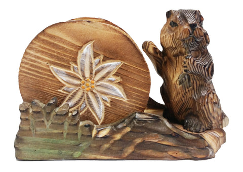 Wooden Carved Coaster Set