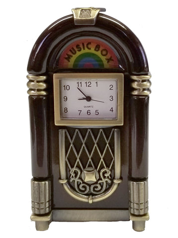 Juke Box Miniature Clock