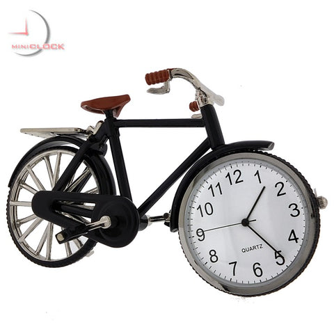 Vintage Bicycle Miniature Clock