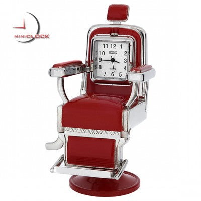 Barber Chair Miniature Clock - Red