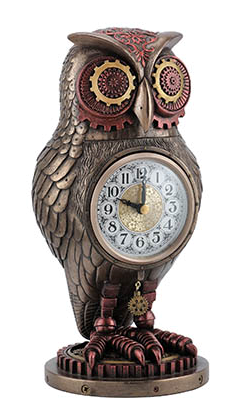 Steampunk Owl Clock