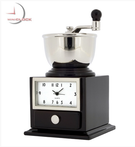 Coffee Grinder Mini Clock