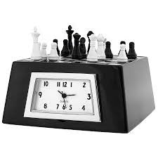 Chess Set Miniature Clock