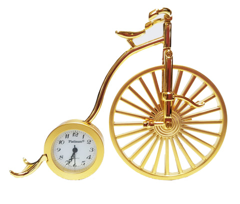 Gold Bike Miniature Clock