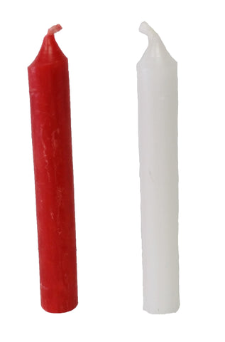 4 Pack White 10mm Candles