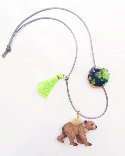 Bear Wild Animal Necklace