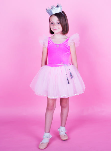 Hologram Tutu Dress - Neon Pink