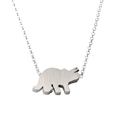 Triceratops Silhouette Necklace