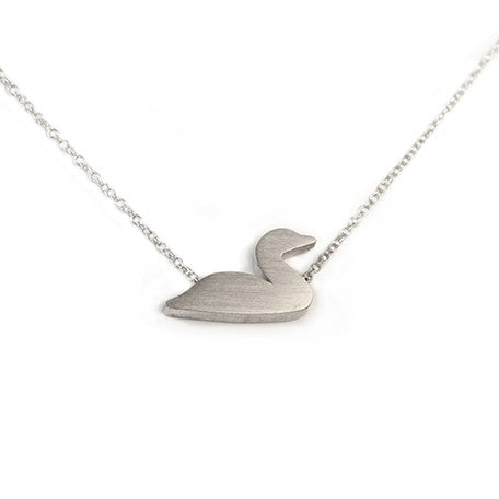 Loon Silhouette Necklace