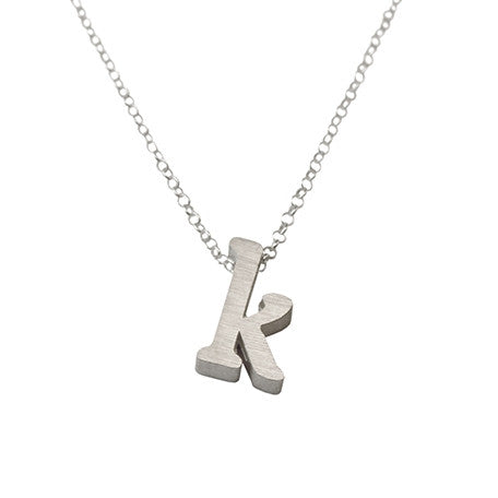 Initial Necklace - K