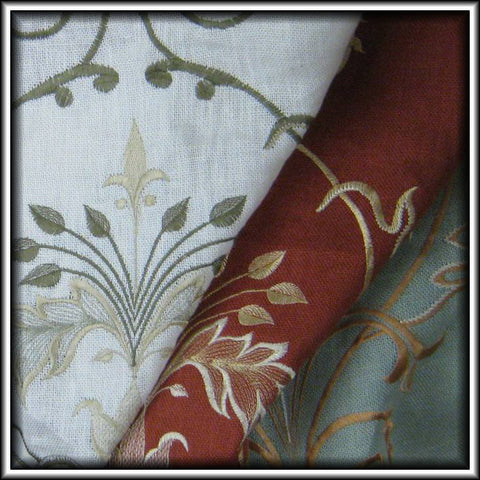 G81000 - Arabesque Embroidered Linen Curtains