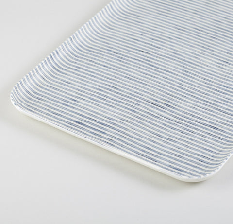 Blue & White Rectangle Linen Tray