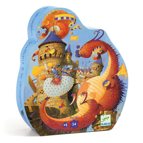 DJECO | Vaillant and the Dragon - 54pc Silhouette Puzzle
