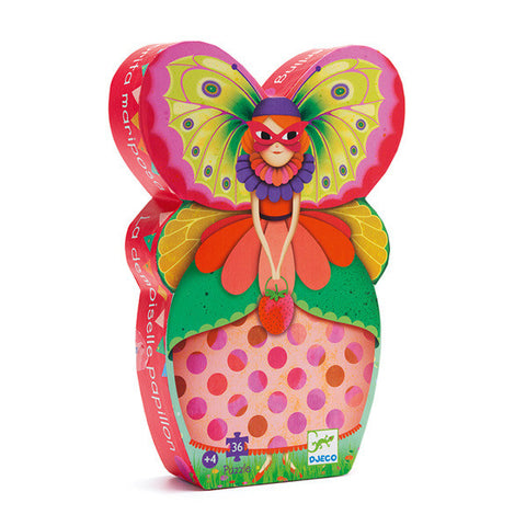 DJECO | The Butterfly Lady - 36pc Silhouette Puzzle