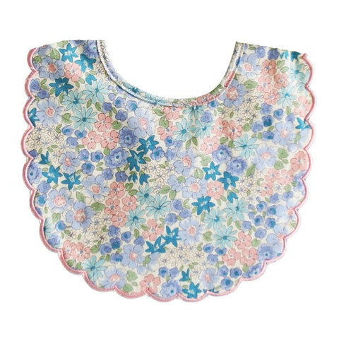 ALIMROSE | Scallop Bib - Liberty Blue