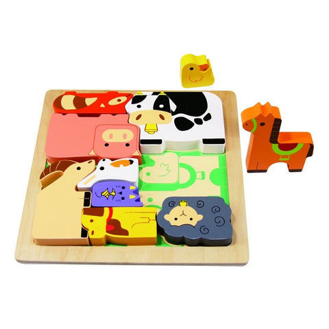 KIDDIE CONNECT | Farm Animal Chunky Puzzle