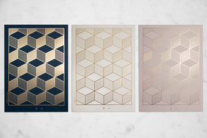 Hexagon Serie of 3 by Tanja Roux
