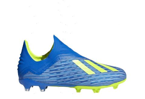 Adidas X 18+ FG J - Football Blue/ Solar Yellow/ Core Black