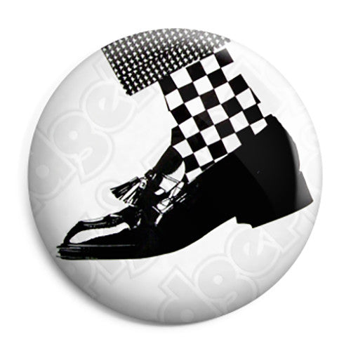 2 Tone - Dance Craze Shoe Ska Album Button Badge