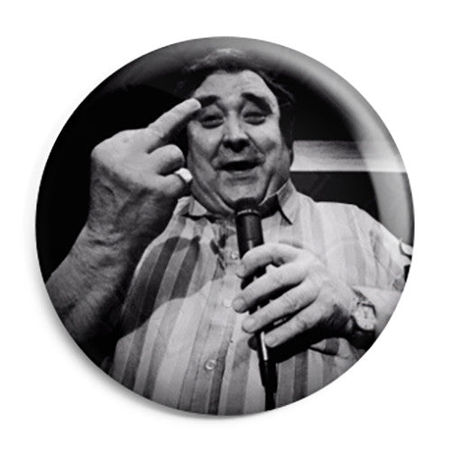Bernard Manning - Comedian Up Yours Offensive Pin Button Badge
