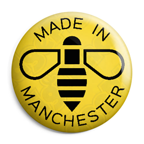 Made in Manchester - MCR Worker Bee Ariana Grande Terror Attack Button Pin Badge