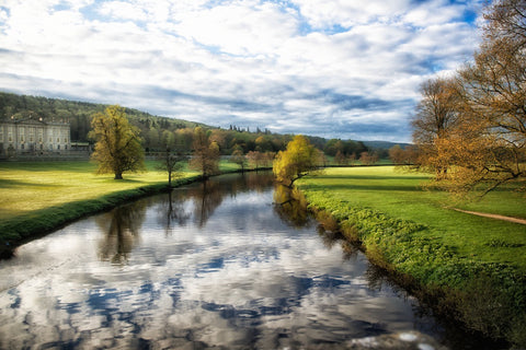 River Reflection Chatsworth Landscape Print