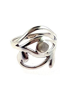 Eye of Horus Moonstone Sterling Ring