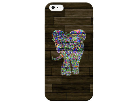 Dark Wood Swirl Elephant Phone Case