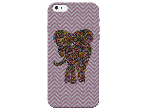 Purple Chevron Paisley Elephant Phone Case