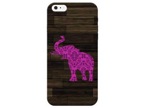 Fuchsia Elephant Patterned Phone Case